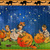 Halloween Pumpkin Carving Time Digital Collage Greeting Card2351