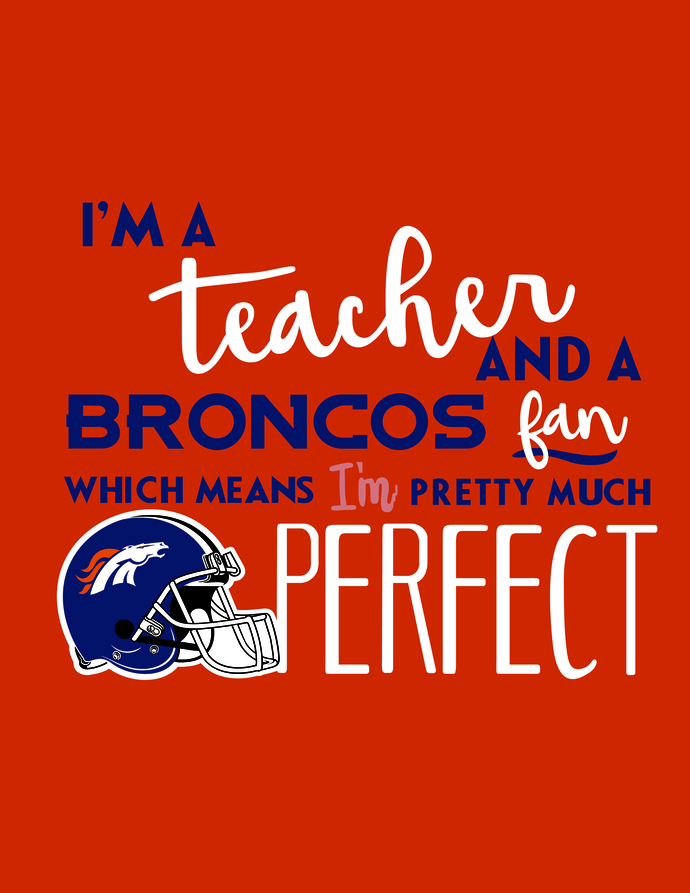 I'm a teacher and a Broncos fan which means i'm pretty much perfect, Denver