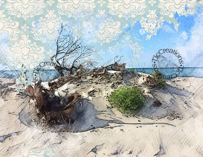 Day at the Beach Printable Junk Journal Kit Scrapbook Diary