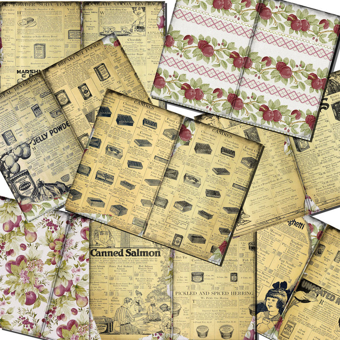 Your Grocery Catalog Vintage Junk Journal Pages and Journal Cards Printable