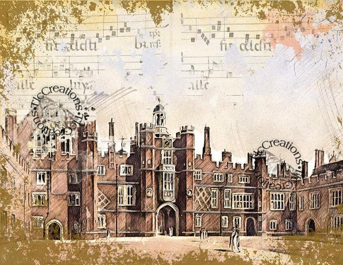 Abandoned Kingdom Printable Junk Journal Kit Scrapbook Castles