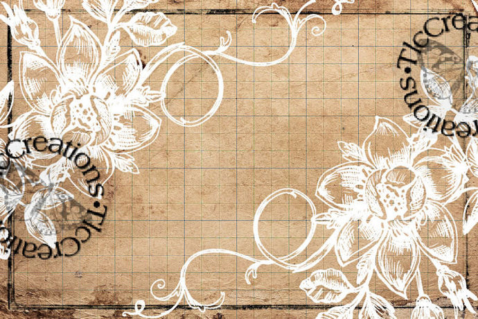 The Basics Printable Vintage White Flowers Journal Cards, Junk Journal