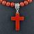 Red Jasper Stone Cross Pendant White Howlite Red Jasper Necklace