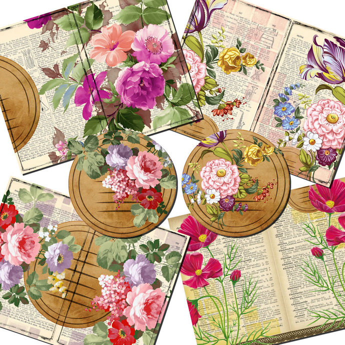 Floral Fantasy Printable Journal Kit, Cards, Paper, Memory Keeping