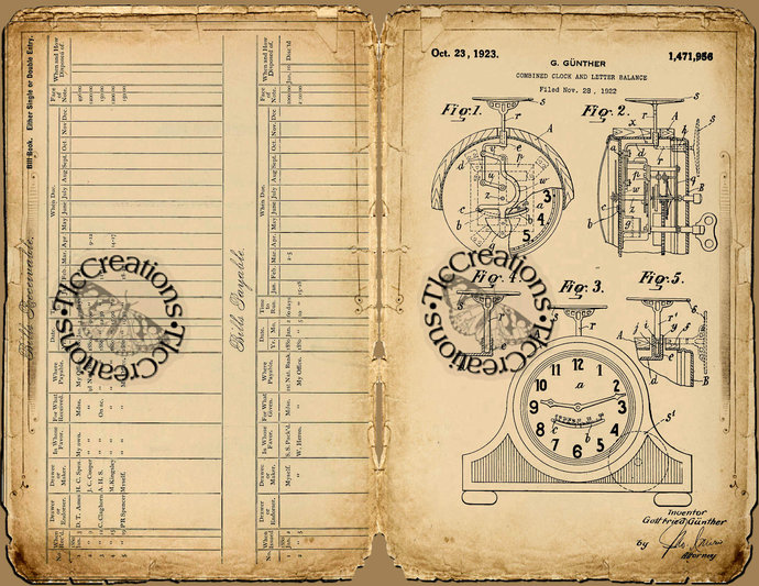 Patent Pending Vintage Junk Journal Papers, Envelopes and Journal Cards