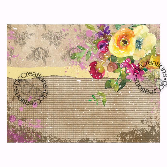Floral Mix It Up Mini Kit Junk Journal Scrapbook Printable Papers