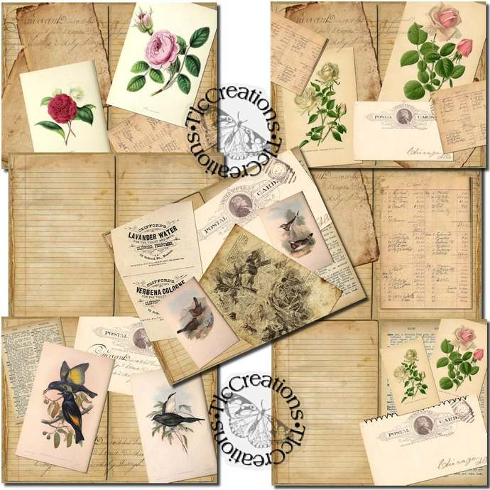 Just the Basics, A Day in Nature Printable Junk Journal Kit, Mixed Media Art Kit