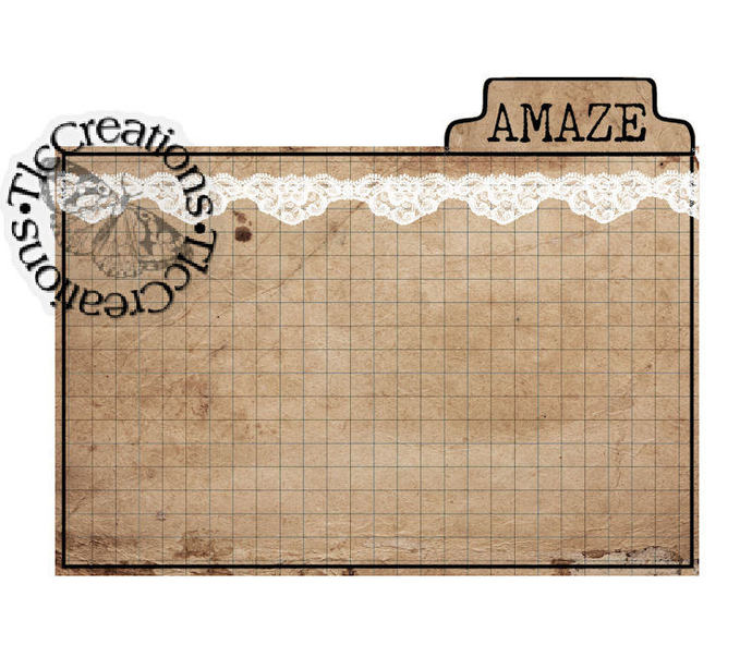 Just the Basics, Printable Vintage Like Tabbed Journal Cards