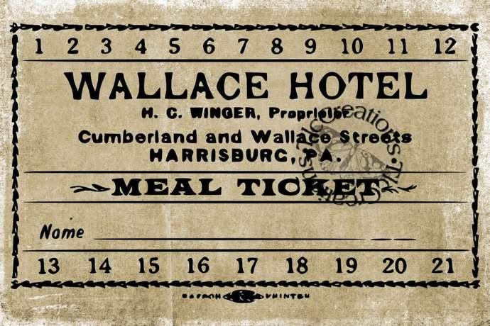 Just the Basics, Vintage Tickets and Receipts, Printable Ephemera