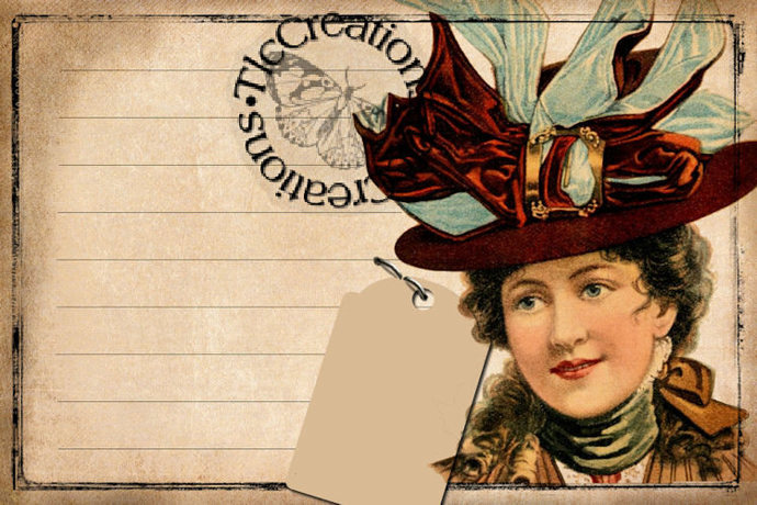 The Millinery Store Hats, Vintage Journal Cards