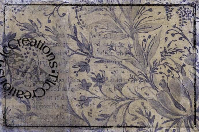 Basic Colored Printable Vintage Junk Journal Cards