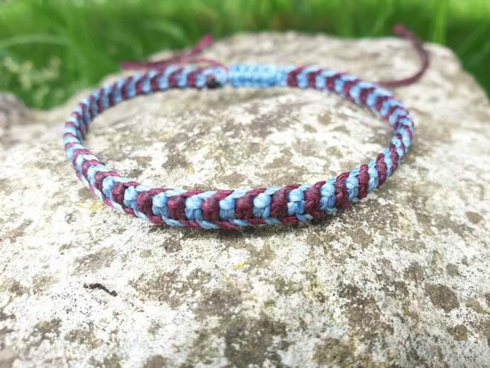 alternate stripe bracelet, minimalist jewelry, best friend birthday gift,
