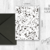 Printable Black Terrazzo Card