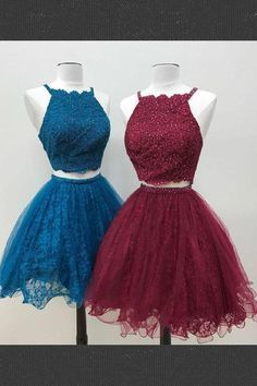 Custom Made Glorious Homecoming Dress Lace, Homecoming Dress Two Piece, Cute