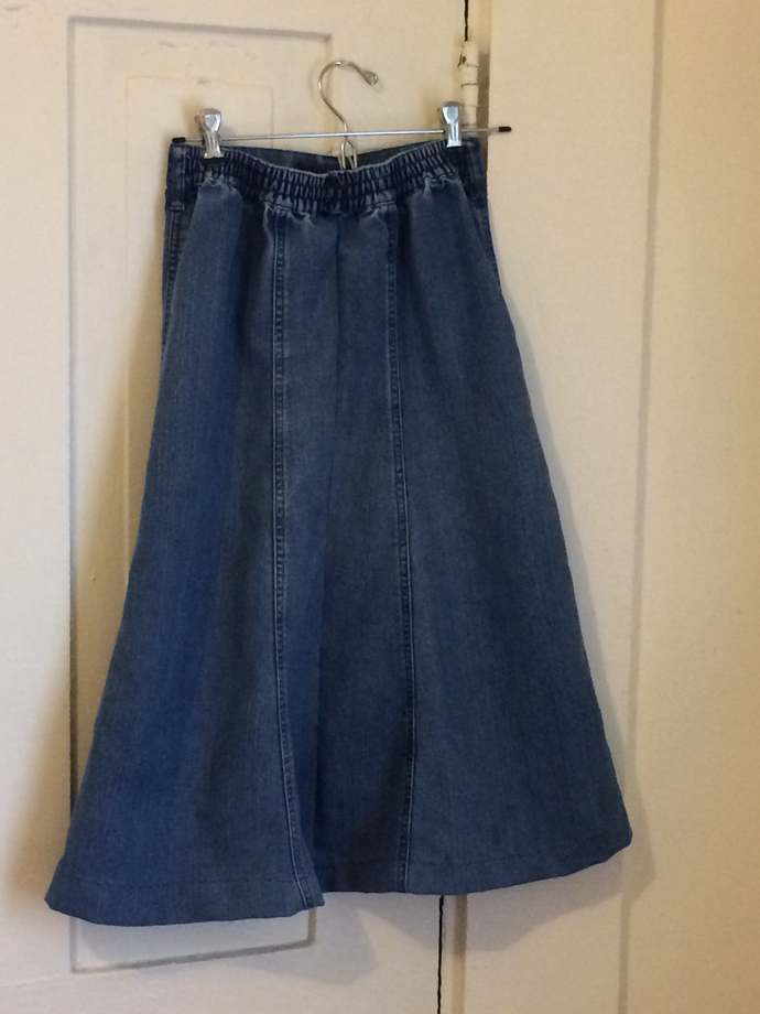 Budget Girls Upcycled Denim Skirt