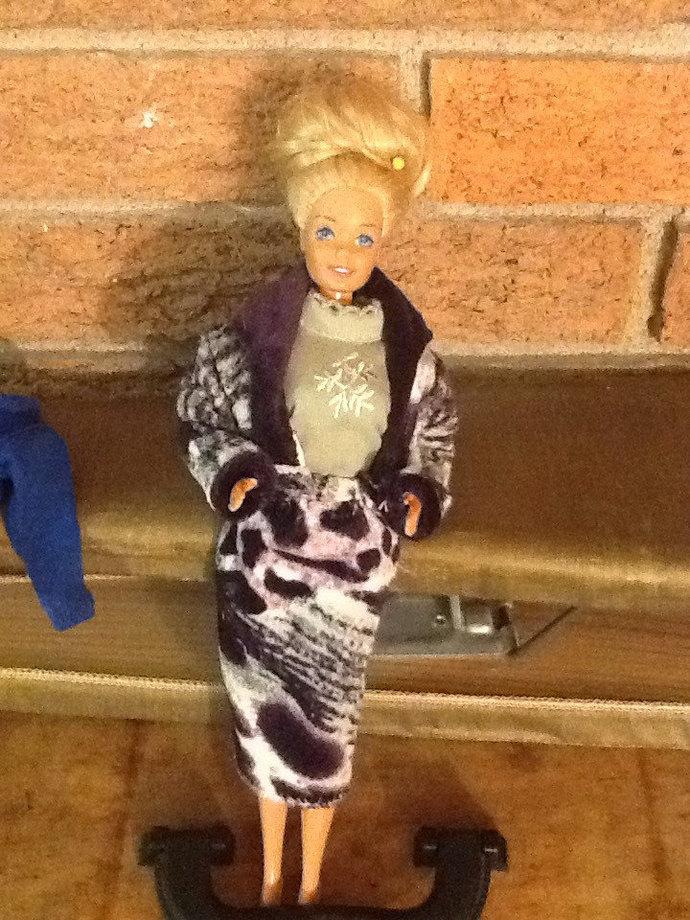 Barbie's Faux Fur Suit