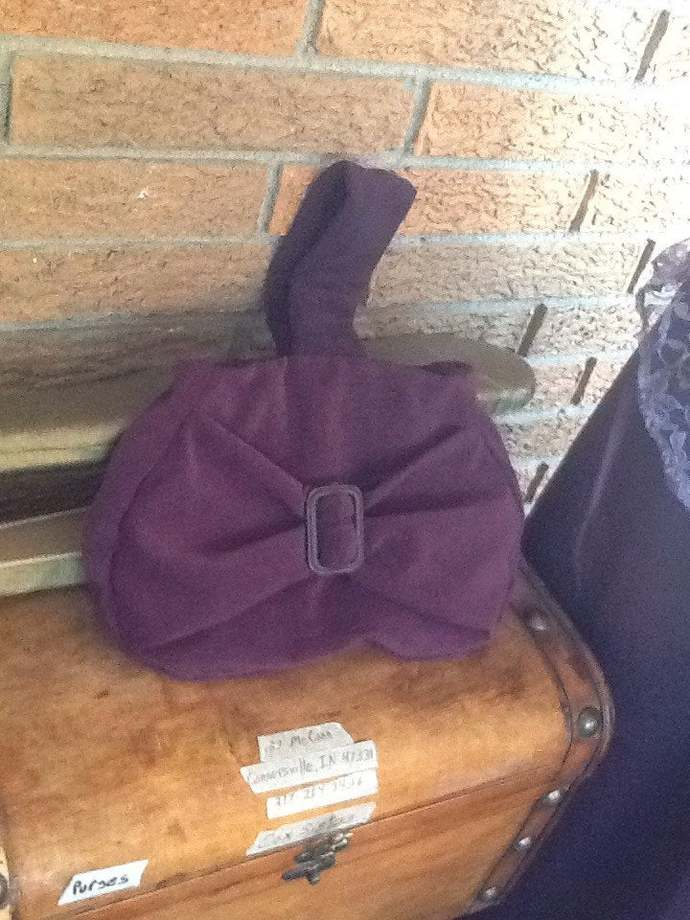 Mauve Mock Suede Handbag