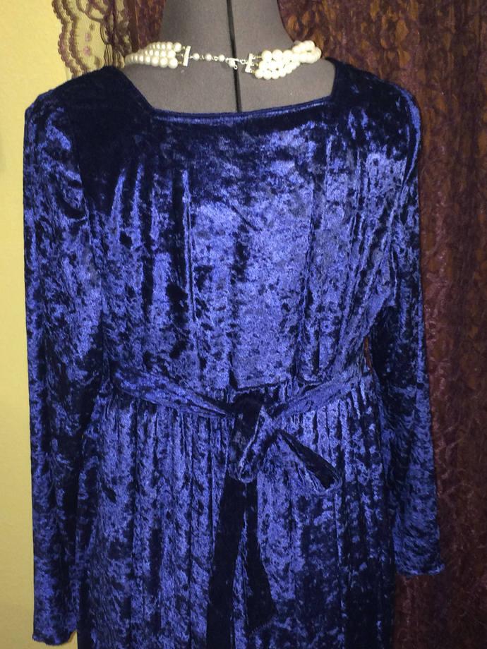 Midnight Blue Velveteen Formal