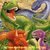 Colorful Dinosaurs Cross Stitch Pattern***LOOK***  INSTANT***DOWNLOAD***