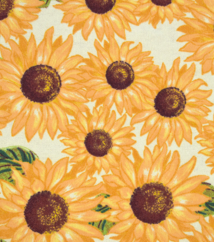 Weighted Blanket Kids, Teens, Adults Sunflowers with Swirl Minky