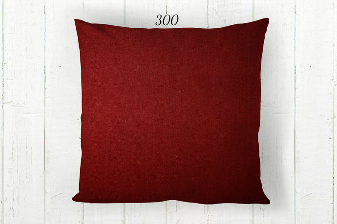 Solid Red Pillow Cover 300, Decorative Farmhouse Rustic Country Americana, Euro