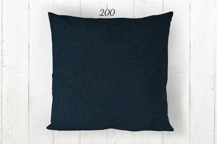 Solid Navy Blue Pillow Cover 200, Decorative Farmhouse Rustic Country Americana,