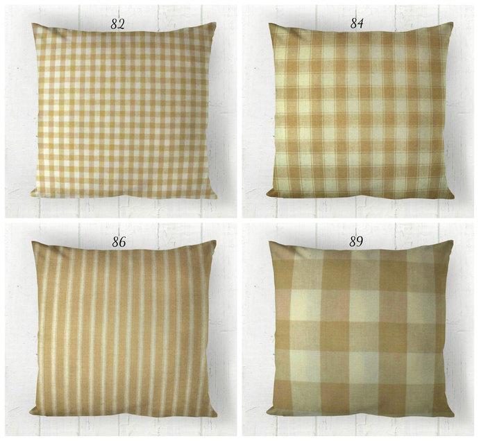 Cream & Beige Pillow Cover, Decorative Rustic Country Farmhouse , Euro Pillow