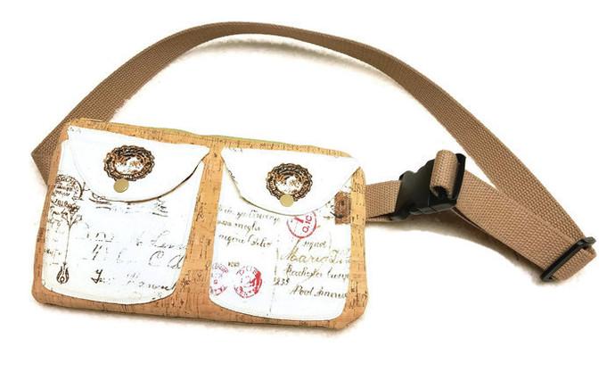 Cork Fabric Fanny Pack Bag