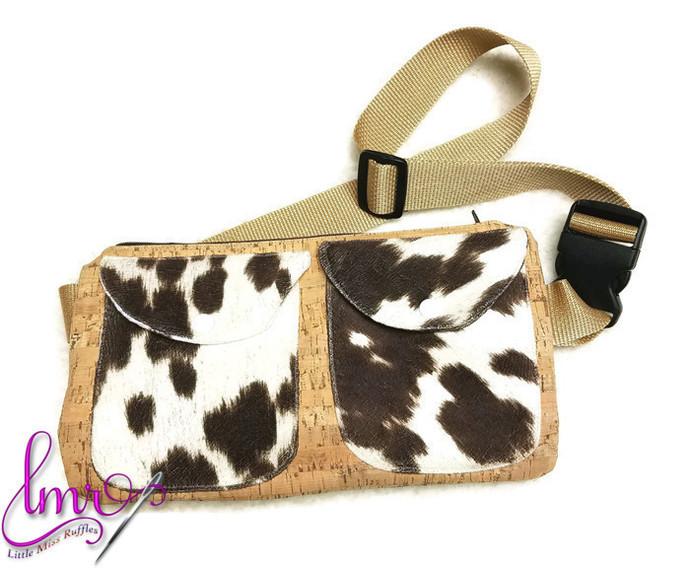 Cow Fur Cork Fabric Fanny Pack