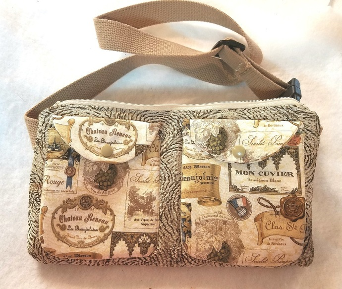 Cork Fabric Wine Design Fanny Pack Bag