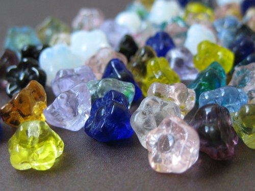 40 pcs of Mixed Drop Flower Beads