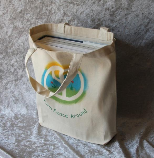 Handpainted Tote Bag in Reggae colors - TPA
