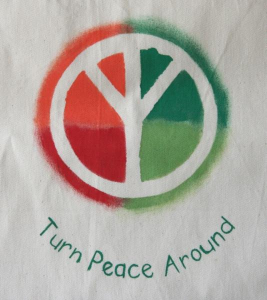 Handpainted Tote Bag in Reds and Greens - TPA