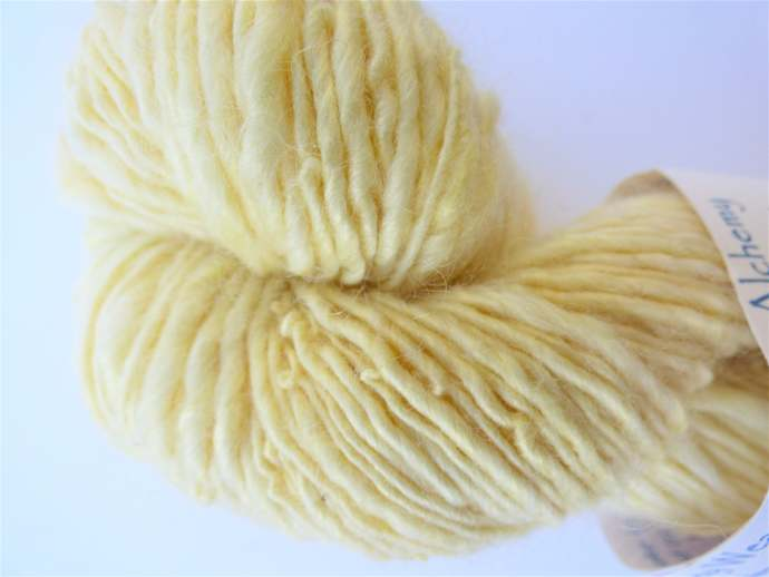 Handspun Yarn Natural/Eco Dyed with Montbretia/Crocosmia flowers 40/40/20