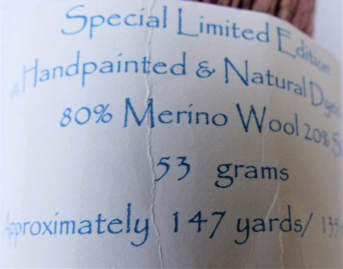 Handspun Yarn Natural / Eco Dyed with Cherry – 80/20% Merino Wool & Silk – 53