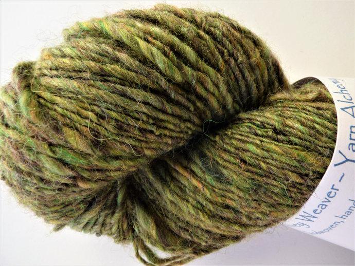 Handspun Yarn – 65/35% Organic Merino Wool and Zwartbles Wool – 100 grams –