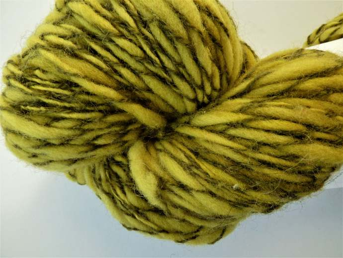 Handspun Yarn – Merino d'Arles Wool – 93 grams – Aran to Chunky Weight – Green