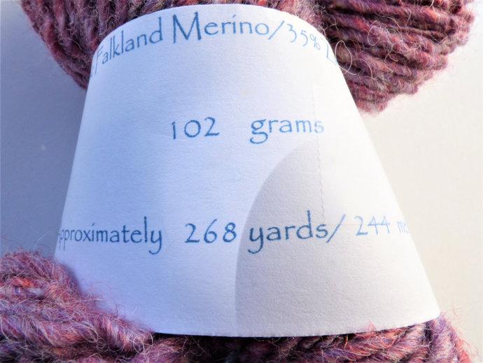 Handspun Yarn – 65/35% Organic Merino Wool and Zwartbles Wool – 102 grams –