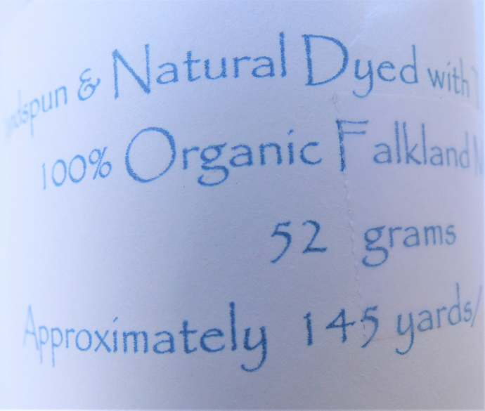 Handspun Yarn Natural / Eco Dyed with Thai Black Rice – 100% Organic Merino Wool