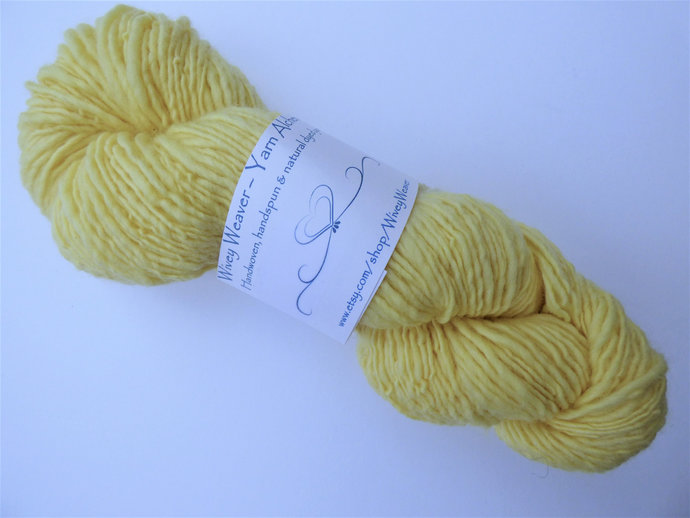 Handspun Yarn Natural / Eco Dyed with Montbretia/Crocosmia flowers – 100%