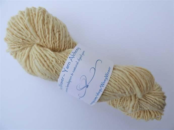 Handspun Yarn Natural / Eco Dyed with Zauschneria – 100% Organic Merino – 51
