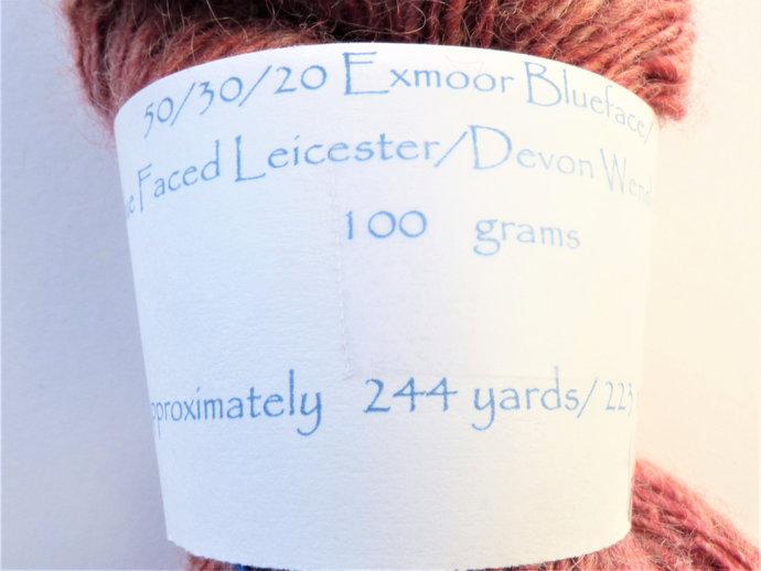Handspun Yarn – Exmoor Blueface, Bluefaced Leicester & Devon Wensleydale Wool –