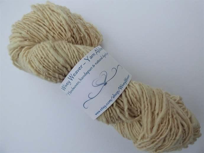 Handspun Yarn Natural / Eco Dyed with Zauschneria – 100% Organic Merino – 52