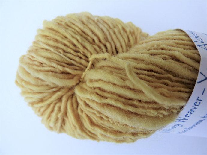 Handspun Yarn Natural / Eco Solar Dyed with Privet – 100% Organic Merino – 53