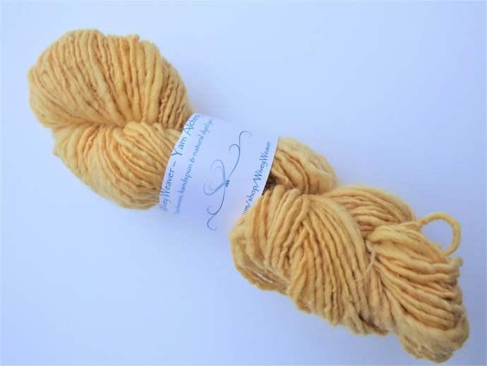 Handspun Yarn Natural / Eco Solar Dyed with Privet – 100% Organic Merino – 52