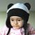 BLACK/WHITE aviator PANDA bear earflaps fleece HAT