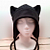 BLACK kitty CAT AVIATOR earflap hat goth punk ski