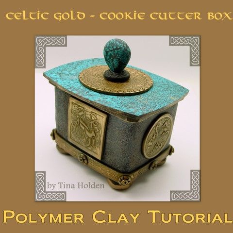 Polymer Clay Tutorial - Celtic Gold Cookie Cutter - Digital Download PDF File