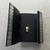 Black Industrial Goth Lockable Steampunk Leather Journal -- The Lined Pages