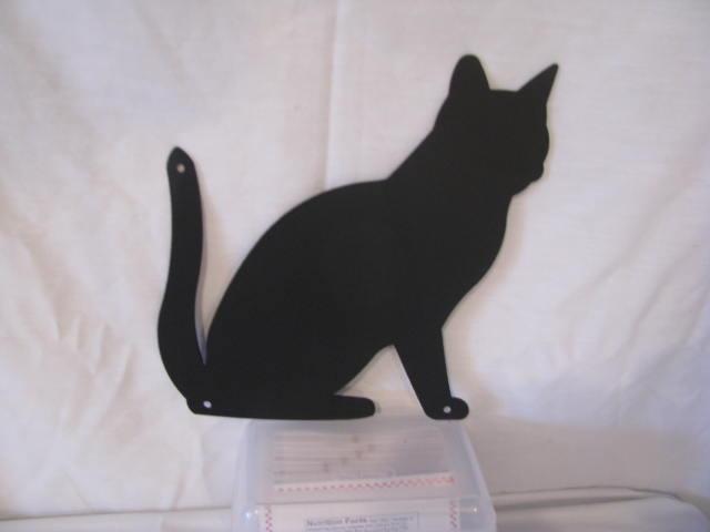 Cat  3 Metal Silhouette Set of (2)